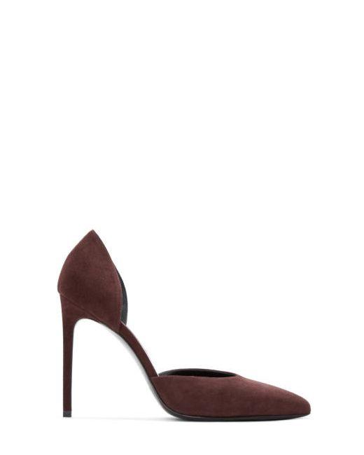 Saint Laurent | 6127 Burgundy Burgundy Suede Paris Skinny Dorsay Heels
