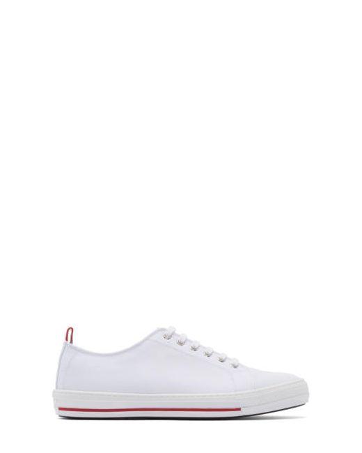 Moncler Gamme Bleu   Белый White Canvas Sneakers