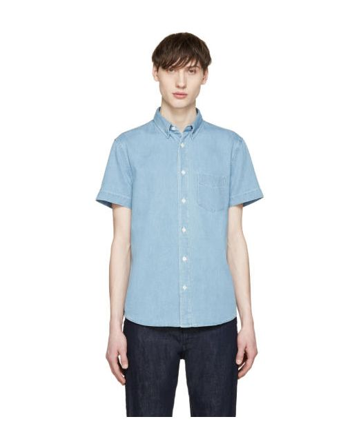 Acne   Superbleach Blue Denim Isherwood Shirt