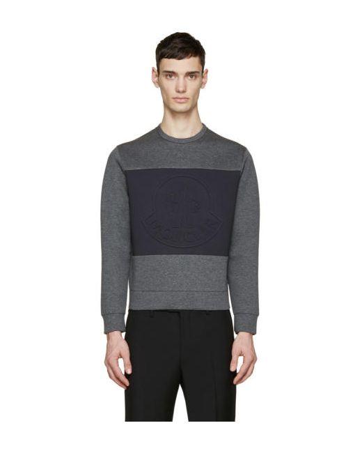 Moncler | Серый Grey Neoprene Logo Pullover