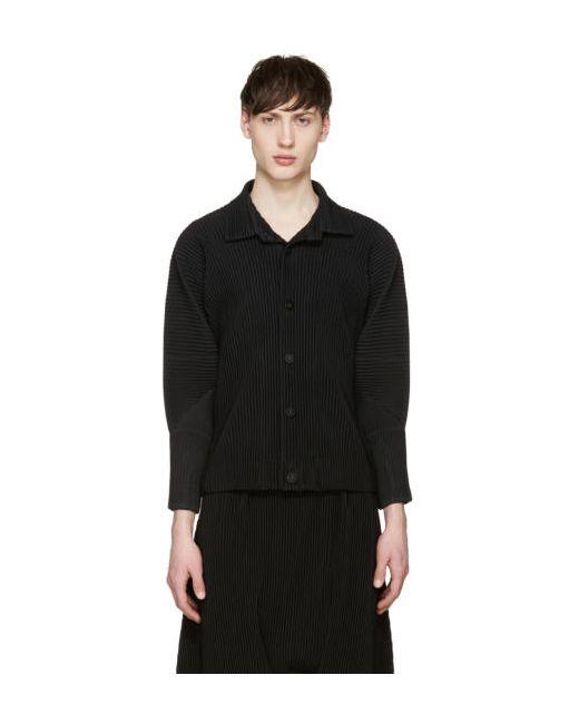 HOMME PLISSE ISSEY MIYAKE | Чёрный Homme Plissé Issey Miyake Black Pleated Shirt
