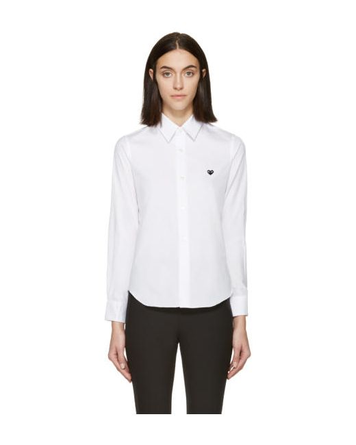 Comme des Gar ons Play | Белый Comme Des Garçons Play White Poplin Small