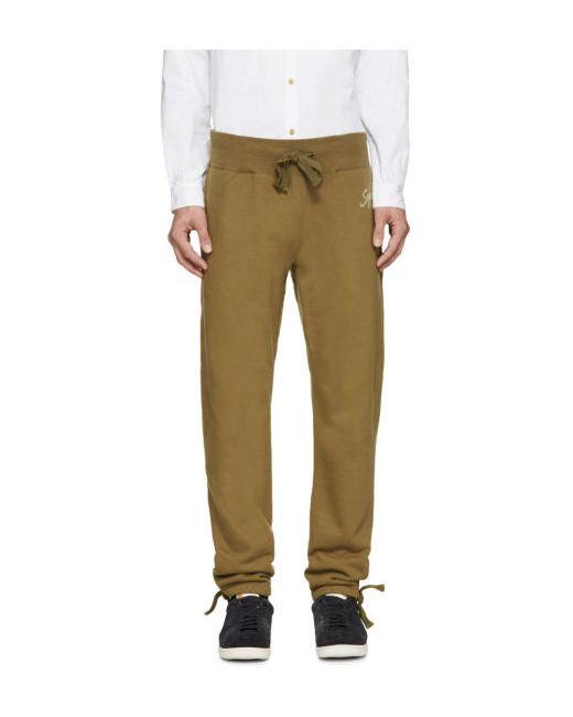 Visvim   03 Olive Green Vintage Logo Lounge Pants