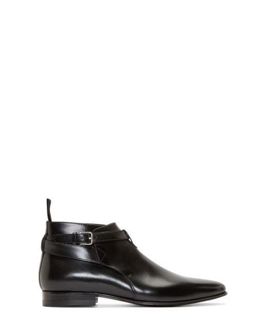 Saint Laurent | Чёрный Black Leather London Ankle Boots