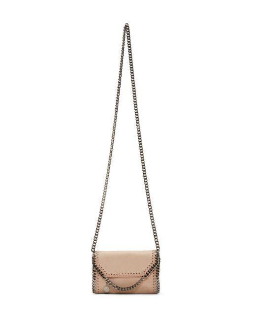 Stella Mccartney   6802 Powder Pink Tiny Falabella Shaggy Deer Bag