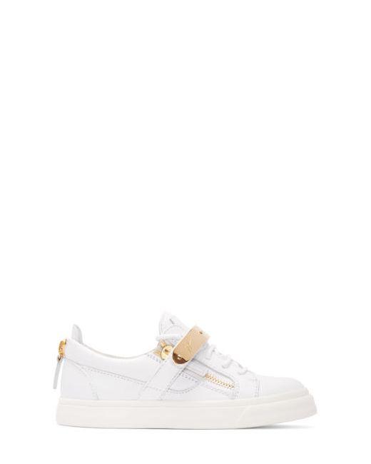 Giuseppe Zanotti Design | Белый Giuseppe Zanotti Leather London Low-Top Sneakers
