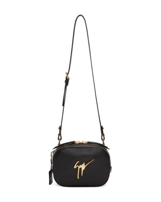 Giuseppe Zanotti Design | Чёрный Giuseppe Zanotti Leather Shoulder Bag