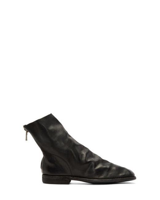 GUIDI | Чёрный Black Leather Chelsea Boots