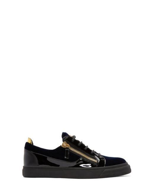 Giuseppe Zanotti Design | Navy Giuseppe Zanotti Velvet London Sneakers