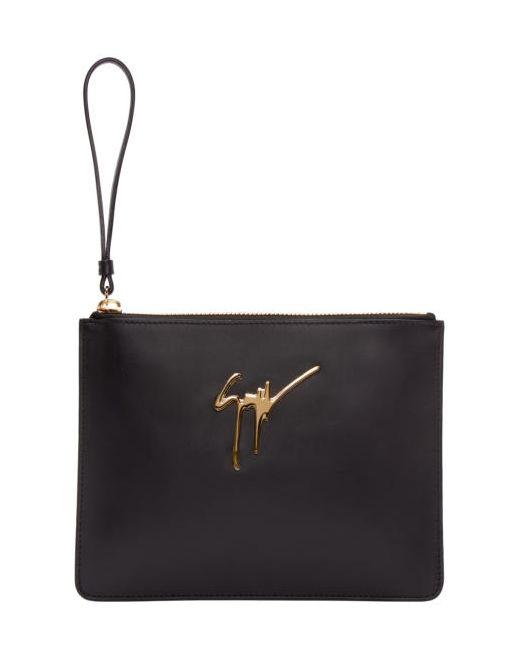 Giuseppe Zanotti Design   Чёрный Giuseppe Zanotti Leather Zip Pouch