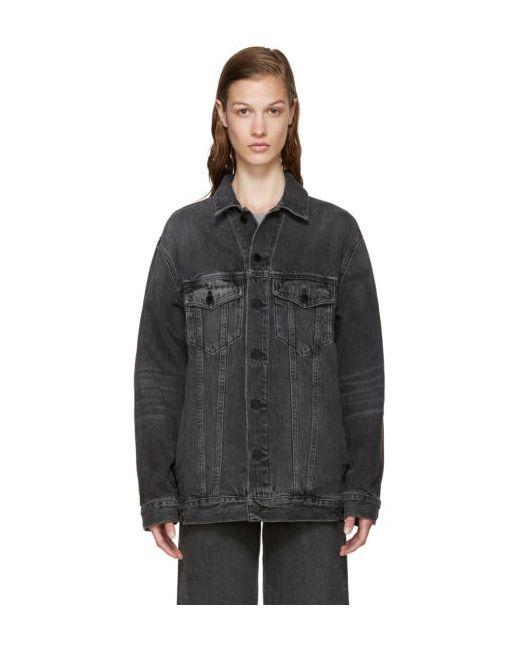 Alexander Wang   Серый Grey Denim Dazed Jacket