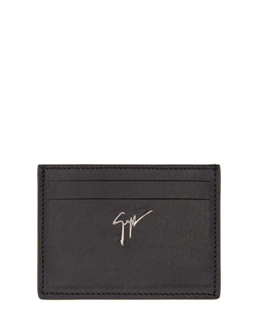 Giuseppe Zanotti Design | Чёрный Giuseppe Zanotti Leather Card Holder