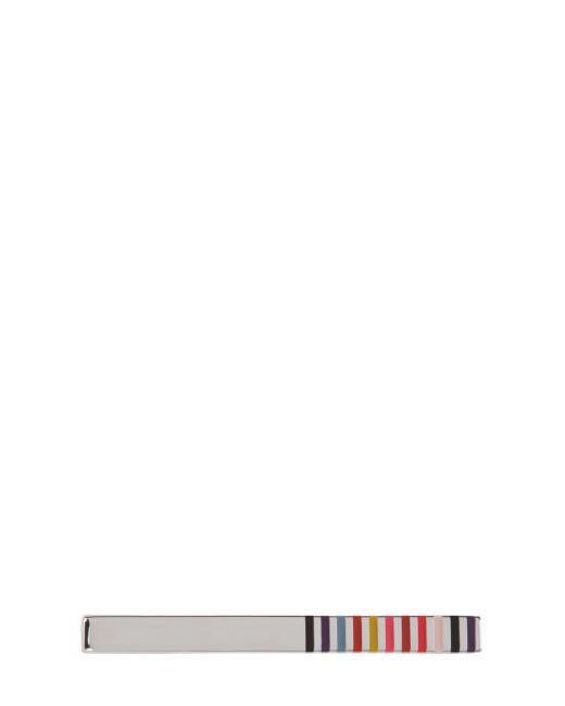 Paul Smith   Серебристый Silver Rod Edge Stipes Tie Bar