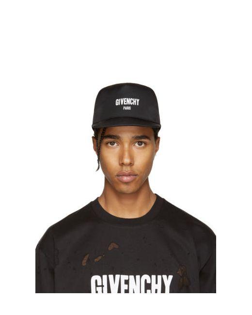 Givenchy | Чёрный Black Canvas Logo Cap