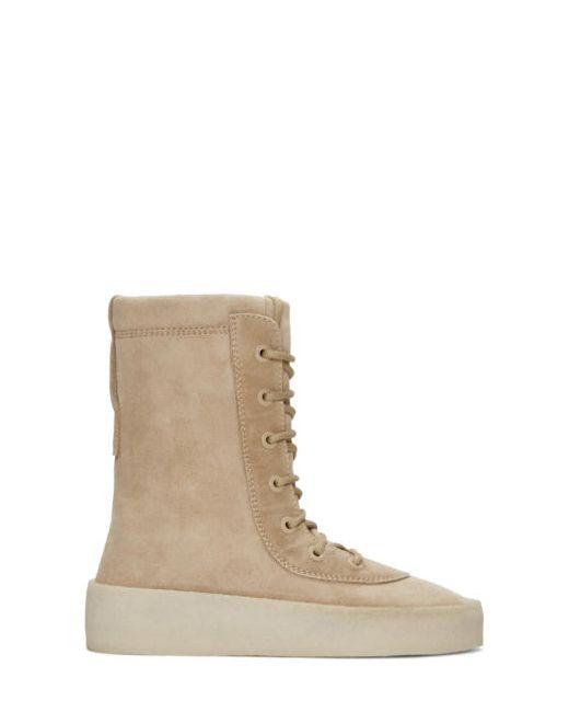 YEEZY Season 2   Taupe Crepe Boots