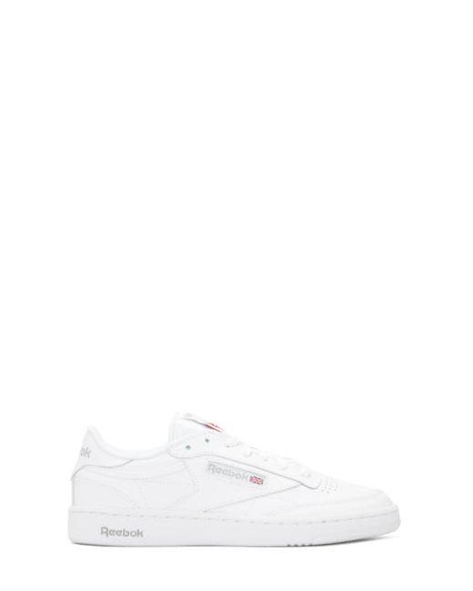 Reebok Classics   Белый White Mens Club C 85 Sneakers