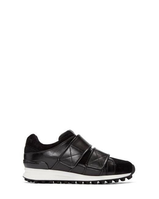 3.1 Phillip Lim | Чёрный Black Leather Trance Sneakers