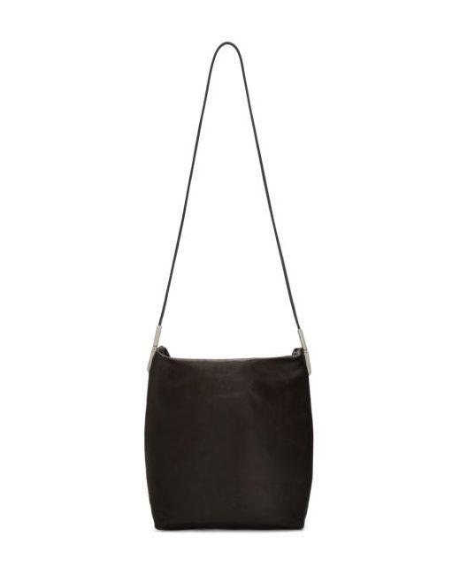 Rick Owens | Чёрный Black Leather Adri Bag