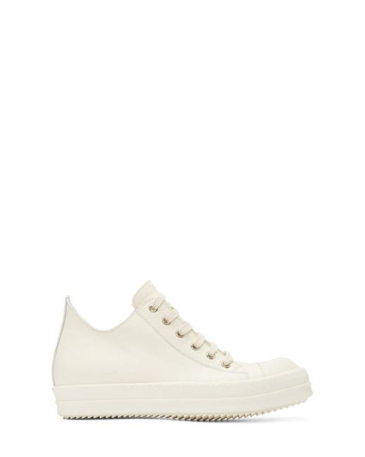 Rick Owens | Белый White Leather Low Sneakers