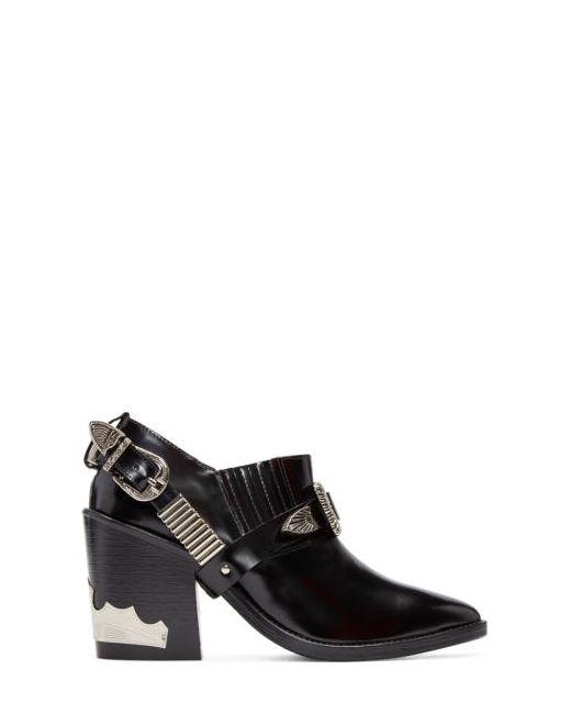 Toga Pulla   Чёрный Black Western Strap Boots