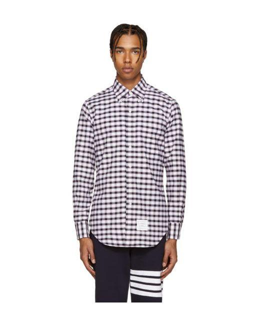 Thom Browne   960 Rwb Tricolor Classic Check Shirt