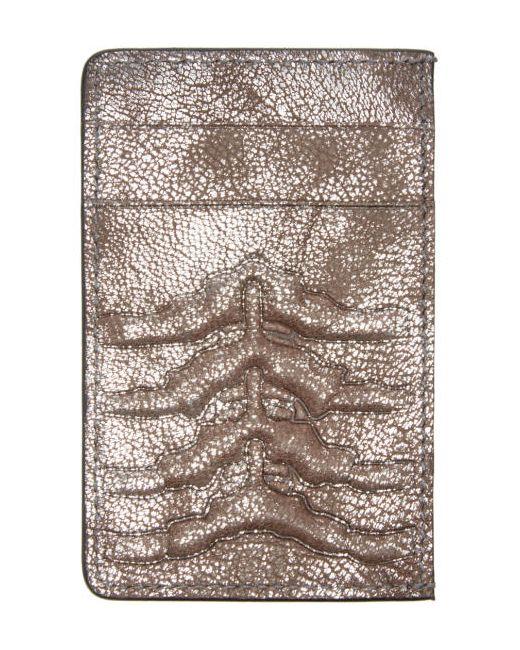 Alexander McQueen | Серебристый Silver Ribcage Card Holder