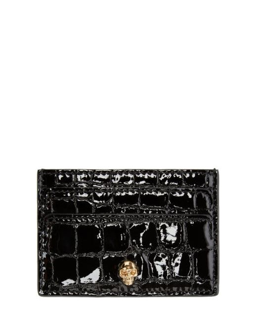 Alexander McQueen | Чёрный Black Skull Card Holder