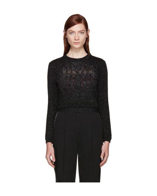 Carven   Чёрный Black Speckled Logo Sweatshirt