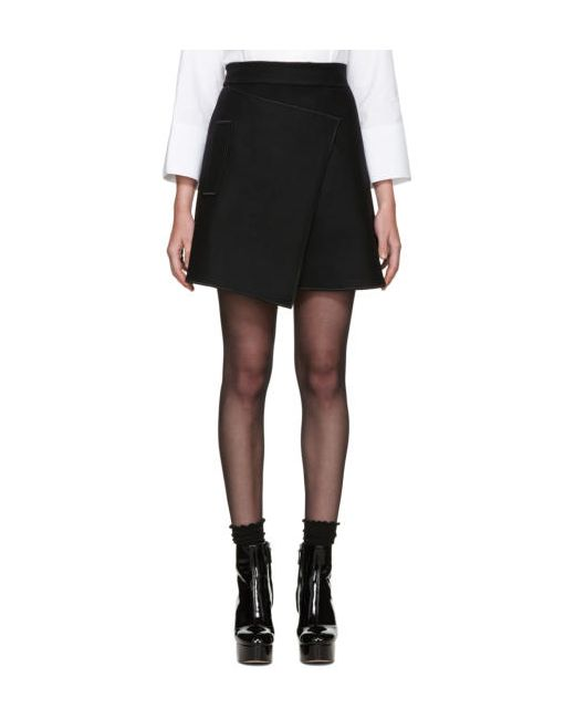 Carven | Чёрный Black Wool Wrap Skirt
