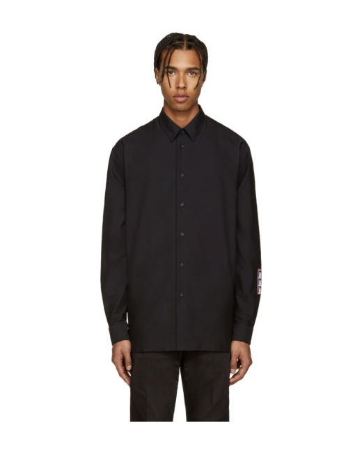 Mcq Alexander Mcqueen   Чёрный Black Logo Patch Shirt