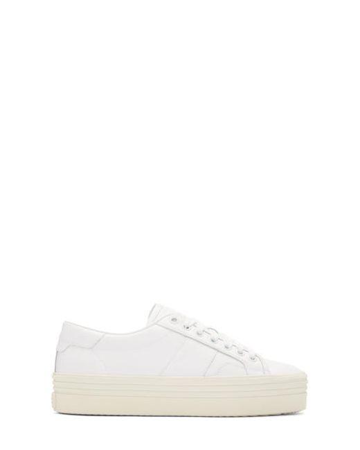 Saint Laurent | Белый White Platform Court Classic Sneakers