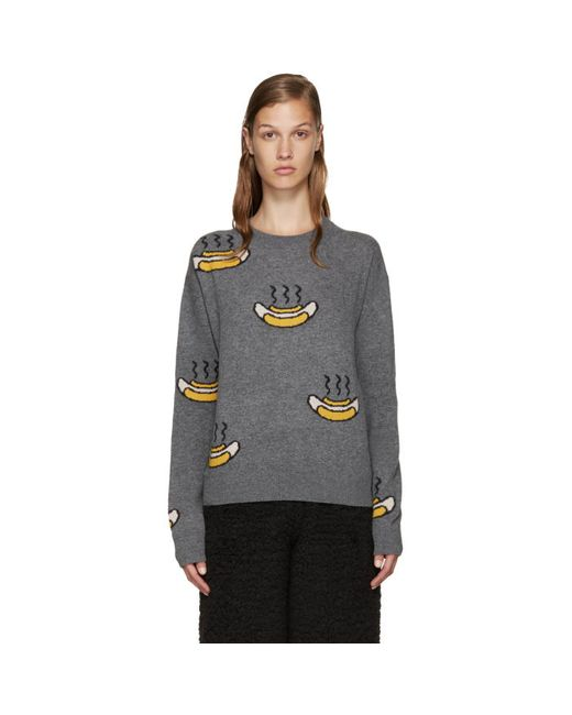 Acne | Серый Grey Phira Hot Dog Pullover
