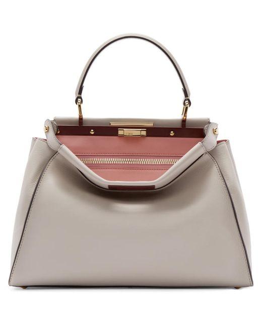 Fendi | Розовый Beige Regular Peekaboo Bag