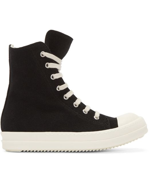 RICK OWENS DRKSHDW | Чёрный Black High-Top Sneakers