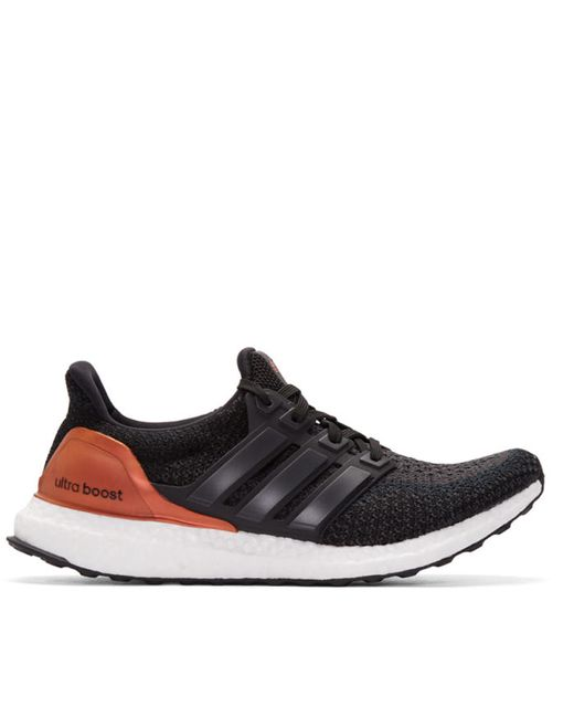 adidas Originals | Чёрный Black And Orange Ultra Boost Sneakers