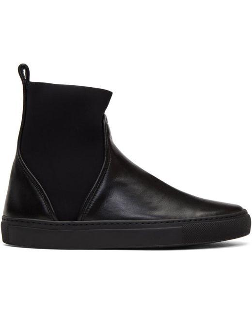 Cedric Charlier | Чёрный Pull-On High-Top Sneakers