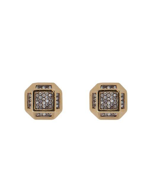 Noor Fares | Золотой 18kt Cube Cage Earrings With Diamonds Gr.
