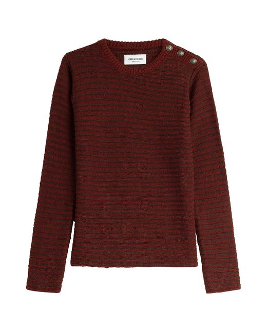 Zadig & Voltaire | None Pullover With Statement Buttons Gr. Xl