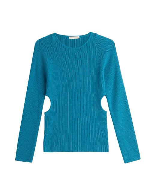 Emilia Wickstead   Синий Wool Pullover With Cut-Out Sides Gr. M