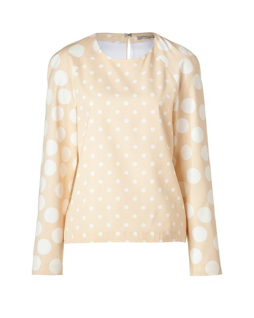 Hakaan | Женское Бежевый Nude/White Dotted Adonide Top Gr. 40