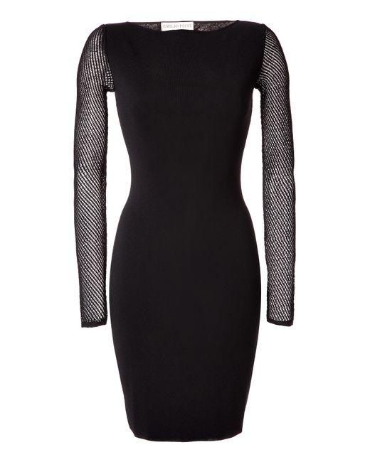 Emilio Pucci   Женское Black Stretch Knit Dress Gr. L