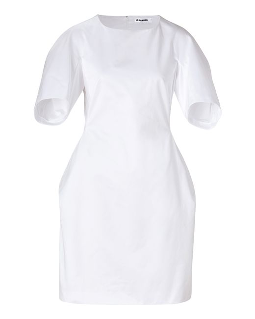 Jil Sander | Женское Белый White Cotton Tulip Dress Gr. 34