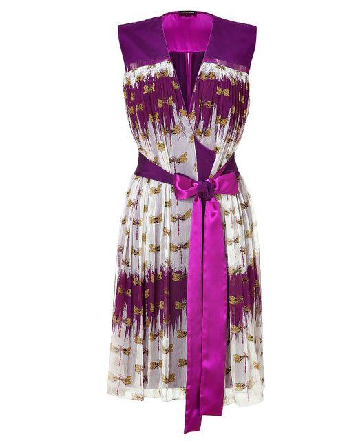 Sophie Theallet   Женское Фиолетовый Deep Orchid Dragonfly Dress For Gr. 36