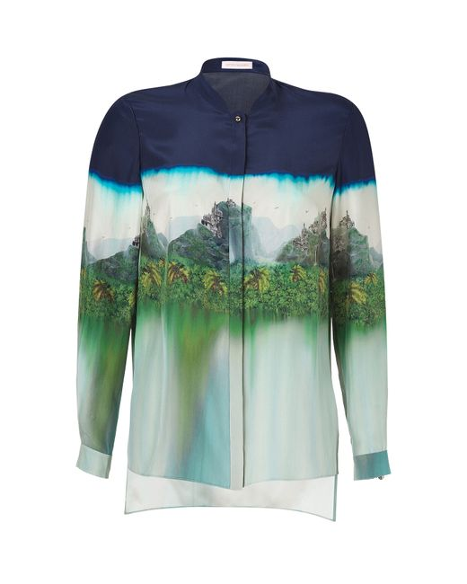 Matthew Williamson | Женское Ink Blue-Multi Silk Print Blouse Gr. L
