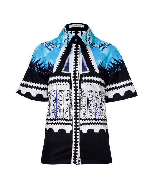 Mary Katrantzou | Женское Чёрный Multicolored Cotton Bloomberg Shirt Gr. 34