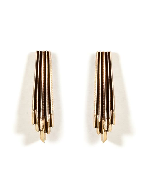 Aesa | Женское Золотой Brass Wind Wake Earrings Gr. One Size
