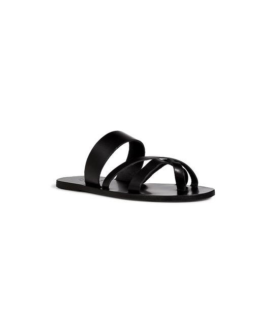 ANCIENT GREEK SANDALS | Мужское Чёрный Leather Sandals Gr. 40