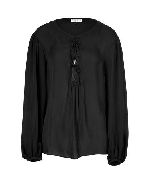 Emilio Pucci | Женское Чёрный Silk Lace Front Top Gr. 34
