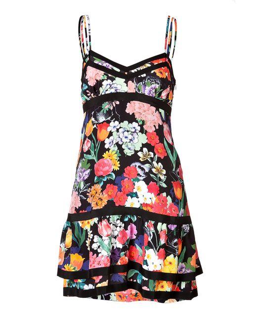 Moschino | Женское Silk Floral Print Tiered Dress Gr. 36