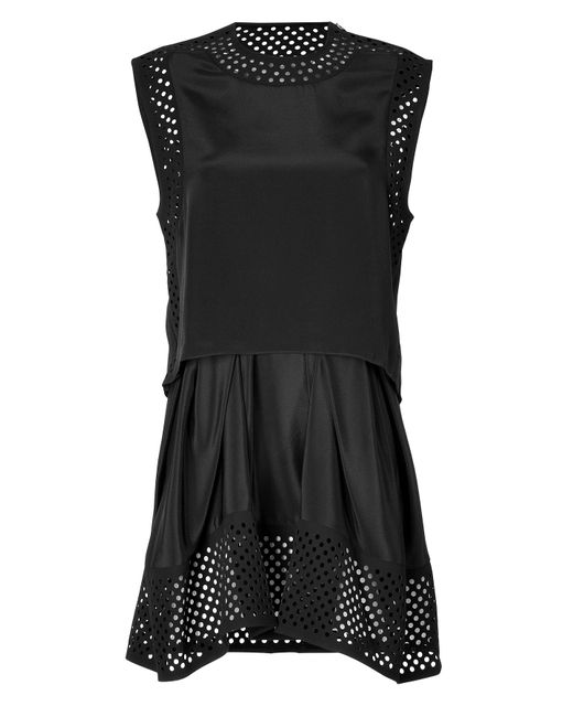 3.1 Phillip Lim | Женское Silk Mesh Detailed Dress Gr. 40